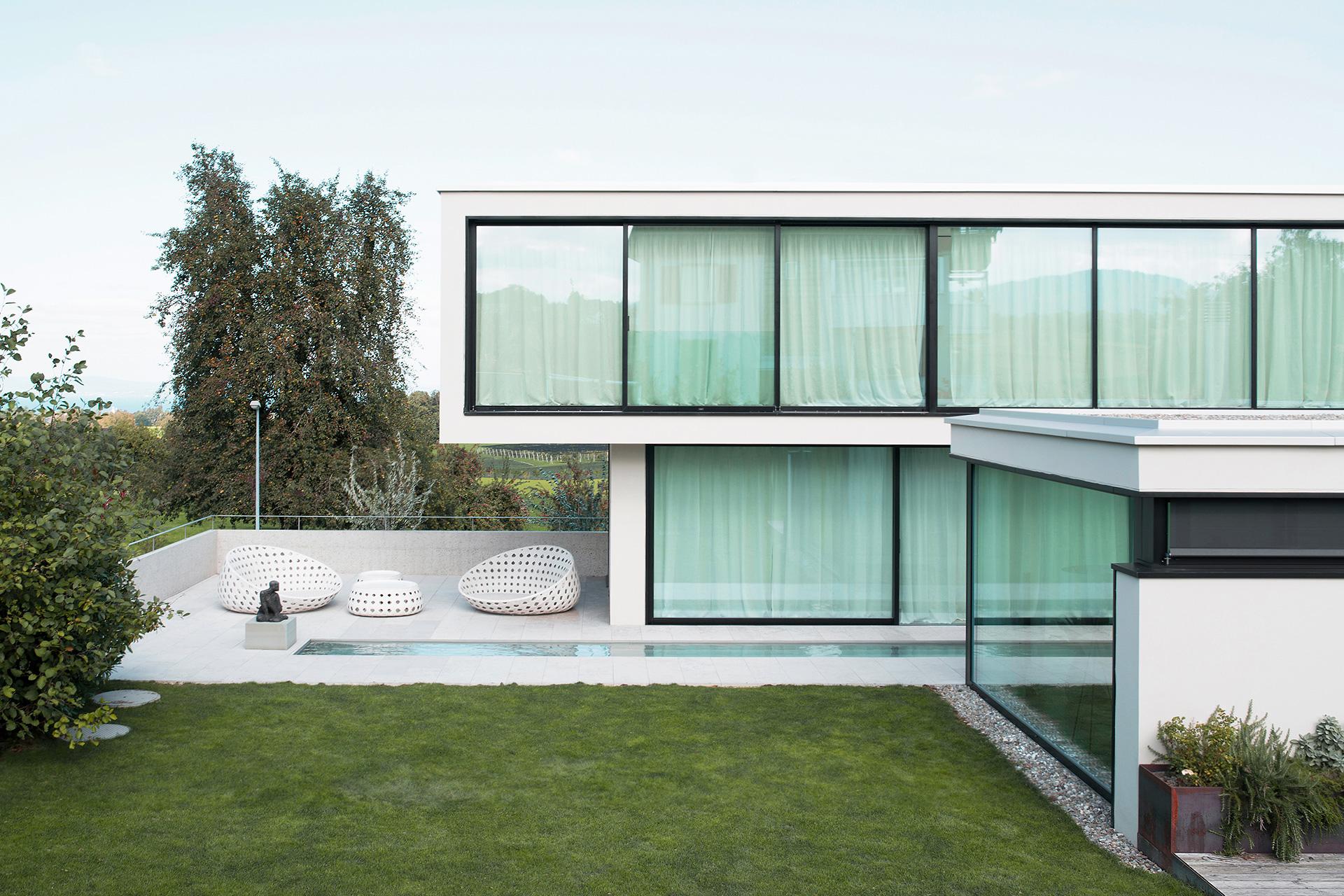 Pfister Klingenfuss Architekten, Haus H, Mörschwil, Aussensitzplatz