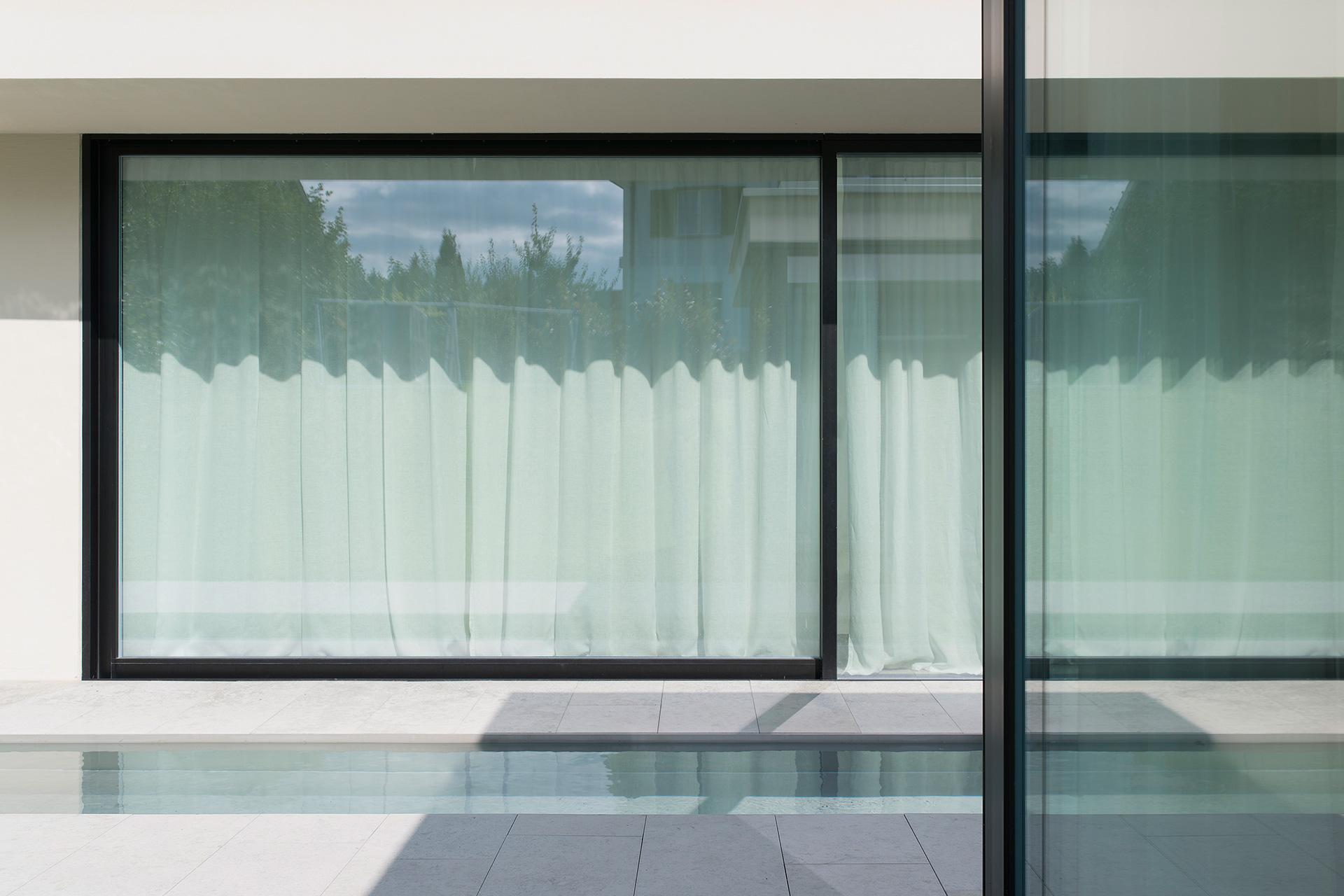 Pfister Klingenfuss Architekten, Haus H, Mörschwil, Ansicht Glasfronten