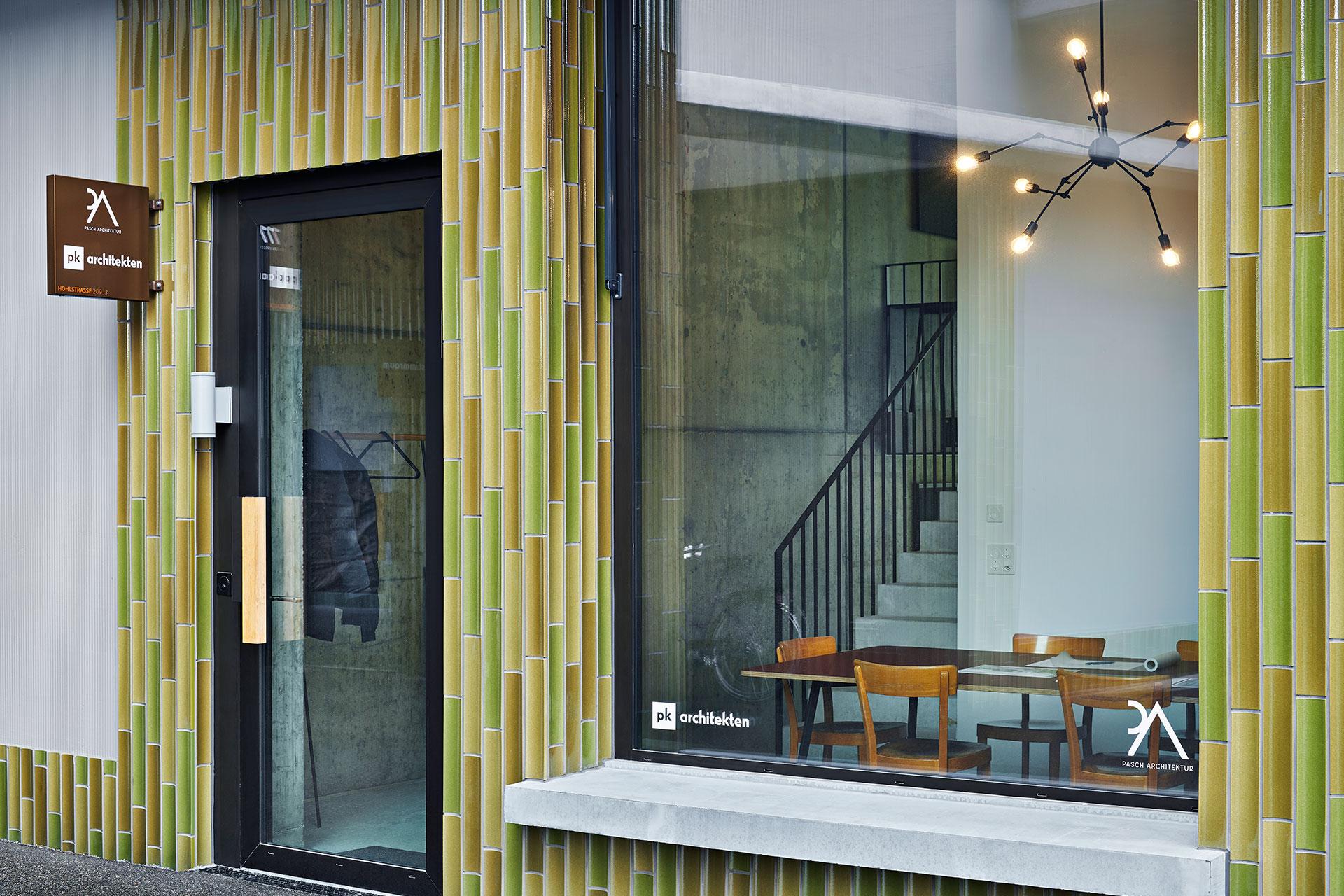 Pfister Klingenfuss Architekten, Kontakt, Zürich, Eingang